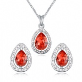 Austria Crystal Necklace Earrings Set