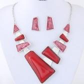 Fashon Necklace Earrings Set