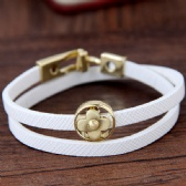 clover leather bracelet