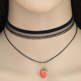 Strawberry Lace Necklace