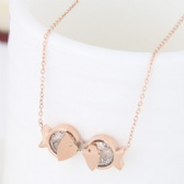 Kiss fish Titanium steel Necklace