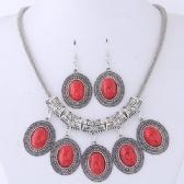 Fashion Necklace Earrings Set