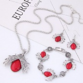 Fashion Necklace Bracelet Earrings Set