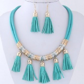 Tassel Necklace Earrings Set
