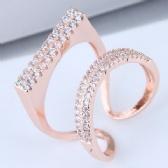 Zircon Copper Ring