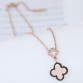 Titanium steel Clover Necklace