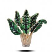 Spinach Brooch