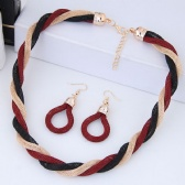 Fashion Necklace Earrings Set