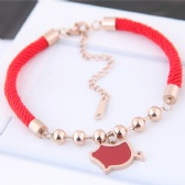 Chinese zodiac pig titanium steel Bracelet