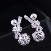 Copper Zircon Earrings