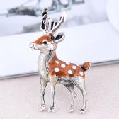 Sika Deer Brooch