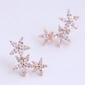 Zircon Copper Earrings