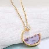 Copper Zircon Necklace