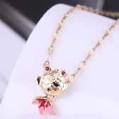 Goldfish Copper Necklace